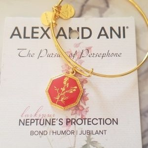 Alex and Ani larkspur floral bangle